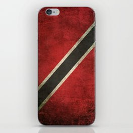 Old and Worn Distressed Vintage Flag of Trinidad and Tobago iPhone Skin