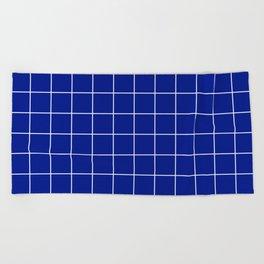 Sapphire Grid Beach Towel