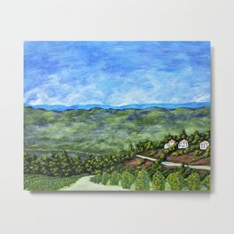 Vineyards Near Nice, France by Mike Kraus - art french france p Metal Print