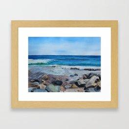 Hampton Beach Painting Framed Art Print