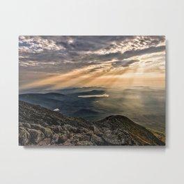 Sunlight from the Knifes Edge, Katahdin, Baxter State Park, Maine Metal Print