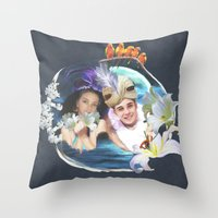 aladdin Throw Pillows featuring Aladdin & Jasmine by FarbCafé