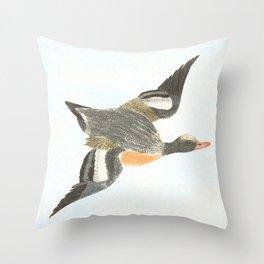 Duck landing Throw Pillow