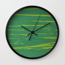 Yellow-Green Zebra Wall Clock