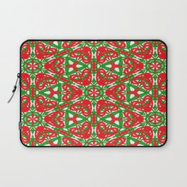Red, Green and White Kaleidoscope 3375 Laptop Sleeve