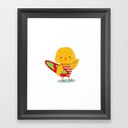 Surf Bird Framed Art Print