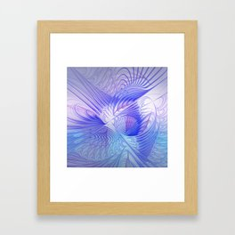 blue and lilac on texture Framed Art Print