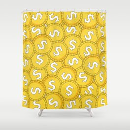 MONEY: Coins Shower Curtain
