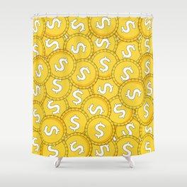 MONEY: Coins Shower Curtain