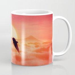flying dolphins sunset Coffee Mug