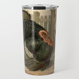 Vintage Thanksgiving Turkey Argument Illustration (1897) Travel Mug