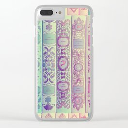 Pattern Books Clear iPhone Case