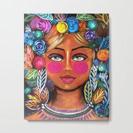 Sol-Original Painting- Zeli Rodriguez Metal Print