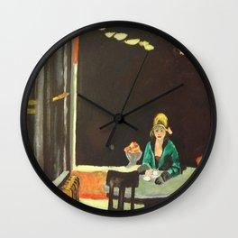 Auto Mat - Edward Hopper  Wall Clock