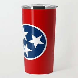 Flag of Tennessee - Authentic High Quality Image Travel Mug
