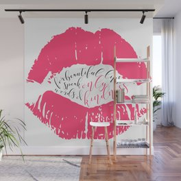 Speak words of kindness Audrey Hepburn quote Wall Mural