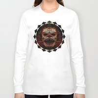 demon Long Sleeve T-shirts featuring Demon by Zandonai