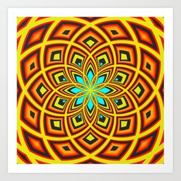 Spiral Rose Pattern D 2/4 Art Print