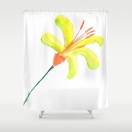 flor de cítrico Shower Curtain
