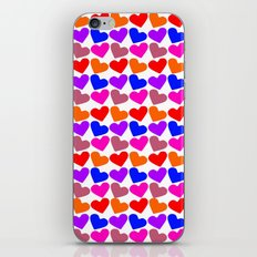 Colorful Hearts Pattern iPhone & iPod Skin