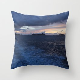 Lost Wake Throw Pillow