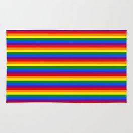 Mini Gay Pride Rainbow Flag Stripes Rug