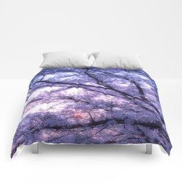 Periwinkle Lavender Flower Tree Comforters