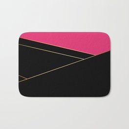 Angelica . Raspberry , black Bath Mat