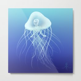 Jellyfish Princess Metal Print