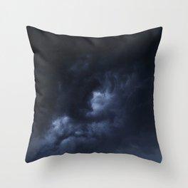 Evening Thunderstorms Throw Pillow