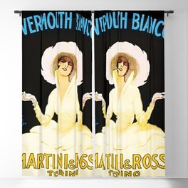 Vintage Martini and Rossi Vermouth Bianco Lithograph Advertising Wall Art. Blackout Curtain