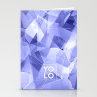 sayings Stationery Cards featuring Dreams of YOLO Vol.3 by HappyMelvin