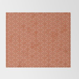 Orange Fish Scales Throw Blanket