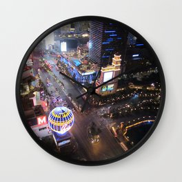 Las vegas strip up view Wall Clock