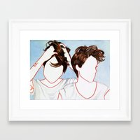 tegan and sara Framed Art Prints featuring Tegan and Sara by Kim Leutwyler