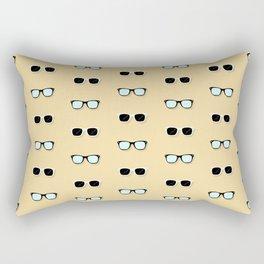 All Them Glasses - Yellow Rectangular Pillow