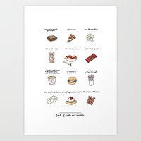 parks and rec Art Prints featuring Foods of Parks and Rec by Tyler Feder