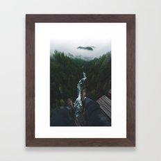 See you at the top!   Vance Creek Bridge - Olympic National Park, WA Framed Art Print