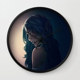 Dark Blue Wall Clock