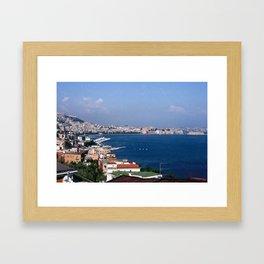 Seaside City Framed Art Print