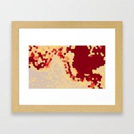 Blue Geometric Landscape Framed Art Print