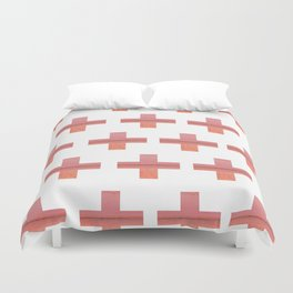 Paint Peeling Like Mars Cross Gradient Duvet Cover
