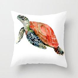 Sea Turtle, turtle art, turtle design Throw Pillow