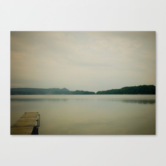 Herring Lake Dock Canvas Print