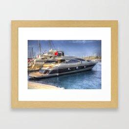 Pershing 90 Yacht Framed Art Print