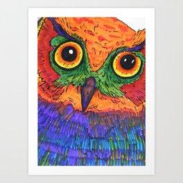Parrot Owl  Art Print