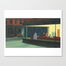 """""""Ghost Nighthawks"""" / Edward Hopper Canvas Print"""