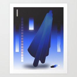 Crepuscular Motions - Composition 12 Art Print