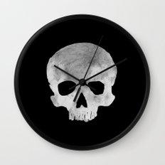 skull Moon Wall Clock