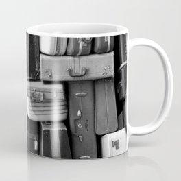 TOWER OF LUGGAGE in Black & White Coffee Mug